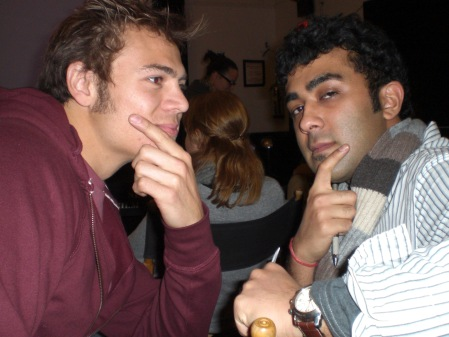 Craig and Ankit(India)…never a serious moment!