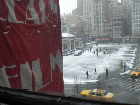View from Class…love the snow