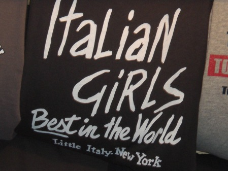 Italian Girl Wear I found in Little Italy!