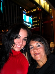 """Me and Mom in the big Apple...after seeing \""""The Phantom of the Opera\"""""""